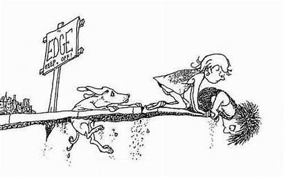 Shel Line Drawings Illustrated Silverstein Sidewalk Ends