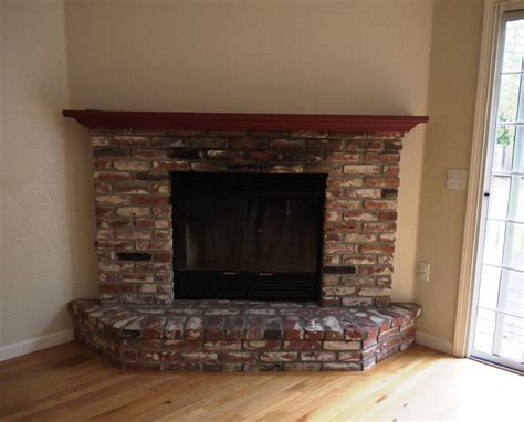 brick fireplace brick fireplace in your house before and after paint pictures