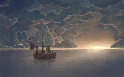 Zelda Waker Wind Legend Link Wallpapers Ship