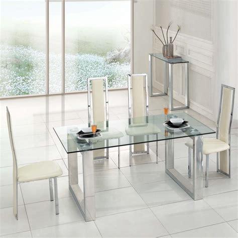 chaise en verre transparente chaise de salle a manger transparente