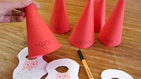 Weihnachtsmann-platzkarten Mit Kindern Basteln