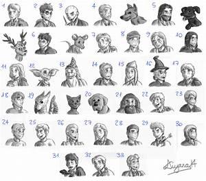 Harry Potter Characters by CartoonSilverFox on DeviantArt