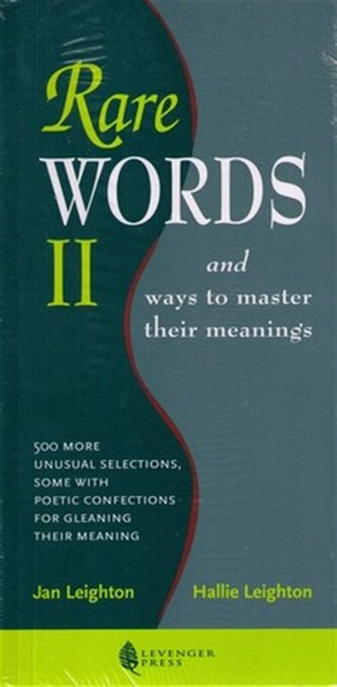 rare words ii  ways  master  meanings