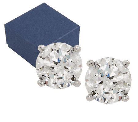 Epiphany Diamonique 100facet 300 Cttw Earrings, Boxed