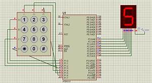 Displaying Keypad Numbers In 7 Segment With 8051