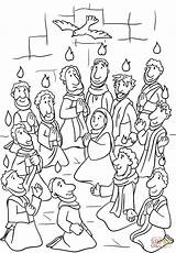 Pentecost Holy Spirit Coloring Descent Pages Fire Printable Sunday Crafts Bible Catholic Sheets Supercoloring Preschool раскраска день Activities Christian святого sketch template