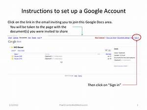 set up an account to use google docs With google documents account