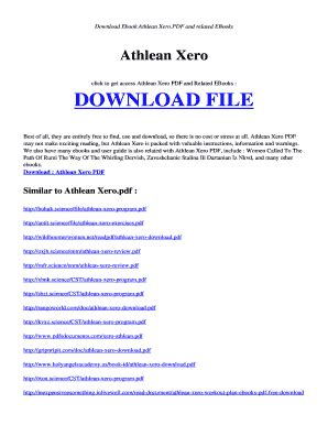 athlean xero ebook