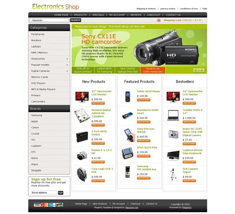magento templates mg04a00433 magento template for electronic stores