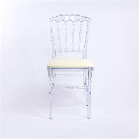 chaise cristal location chaise transparente pour congrès et banquet