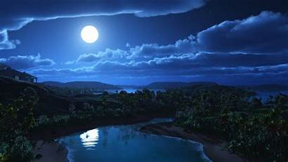 Night Sky Wallpapers Background 3d Dark Evening