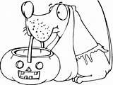 Halloween Dog Coloring Colorare Disegni Pumpkin Basket Colorear Printable Cane Ausmalbilder Sheets Disegno Drawings Holds Hund Cesto Calabaza Kolorowanki Kostenlos sketch template
