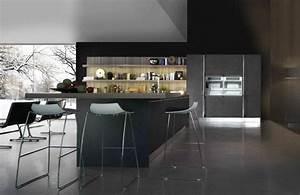 cuisine moderne gris fonce 2 With quelle couleur avec gris anthracite 6 cuisine platine