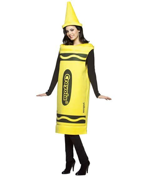 Crayola Yellow Crayon Female Costume - Adult Costume - Women Crayola Costumes