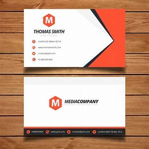 Red business card template design vector free download for Eps business card template