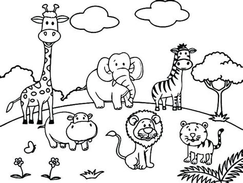 Coloring Zoo by Coloring Zoo Animal Coloring Page Wildlife Pages Animals