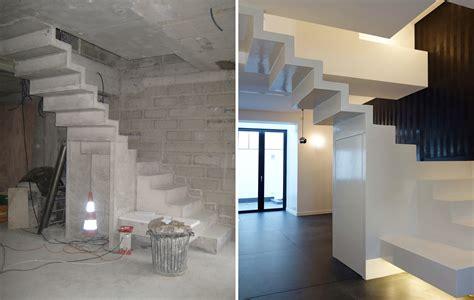 beton cire sur escalier en bois escalier en b 233 ton cir 233 taloch 233