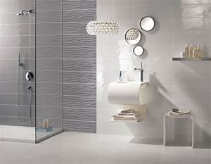 carrelage mural gris design salle de bains flavia espace With carrelage gris salle de bain