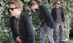 Macaulay Culkin looks pale and nauseous outside Chateau ...