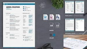 Best Professional Resume Templates Psd  Word  U0026 Ai Format