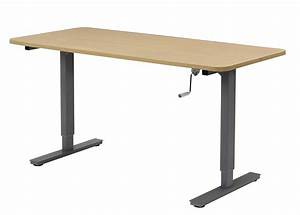 Manual Height Adjustable Desks  Hand Crank Standing Desks