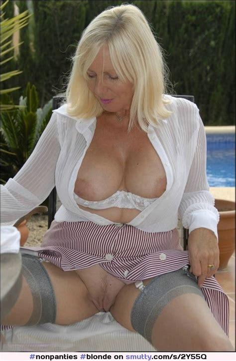 Blonde Milf Mature Cougar Housewife Weddingring Shirtopen Bignaturaltits Framedtits