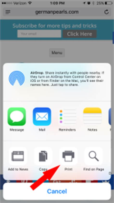 can i print from my iphone how to print from or iphone german pearls