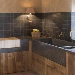 credence bois cuisine blue limestone of hainaut in the kitchen the most