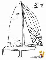 Boat Sailing Coloring Pages Print Yacht Boats Catamaran Ship Boys Yescoloring Superb Template sketch template