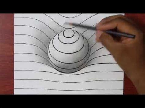 comment dessiner une sph 232 re en 3d illusion d optique tuto dessin facile