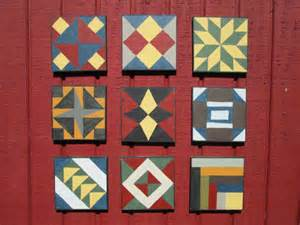 Painted Barn Quilt Squares