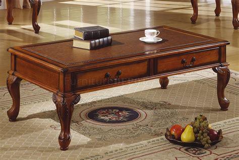 walnut traditional 3pc coffee table w like top