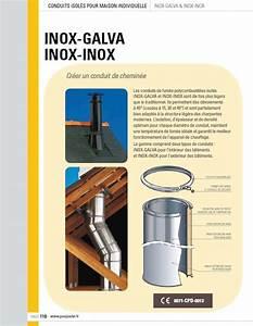 Tubage Inox Double Paroi 150 : conduit isole 1000mm double paroi inox galva poujoulat ~ Premium-room.com Idées de Décoration
