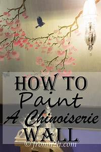 How To Recreate DIY Chinoiserie Wallpaper On A Budget