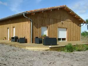 Maison En Bois Nord : deck 40 maison ossature bois landes constructeur maison bois landes mimizan pontenx les ~ Nature-et-papiers.com Idées de Décoration