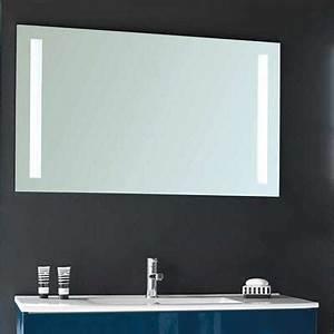 miroir pour salle de bains espace aubade With miroir led salle de bain aubade