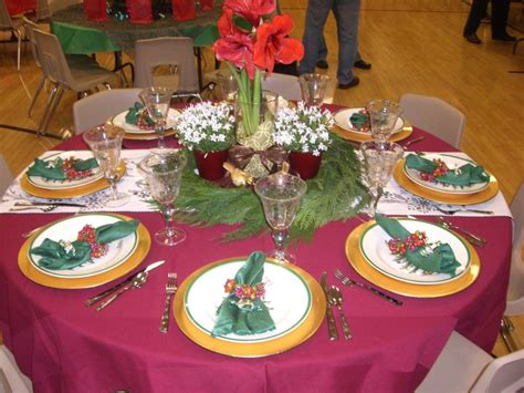 cool christmas banquet table decorations with blue table