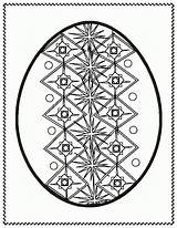 Easter Coloring Egg Ukrainian Eggs Bunny Pysanky Colour Sheets Template Clipart Printable Clip Google Hunt Colouring Cliparts Blank Adult Stencil sketch template