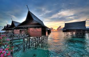 Malaysia Bungalow Over Water