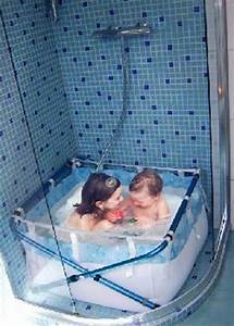 Baignoire Pour Douche Bébé : une baignoire pour enfants dans la douche avec bibabain salle de bain pinterest salle de ~ Melissatoandfro.com Idées de Décoration