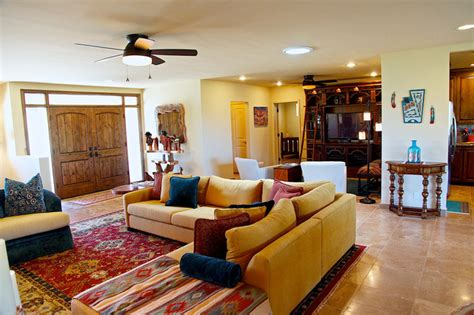 southwest home interiors southwestern style carefree home rustic living room