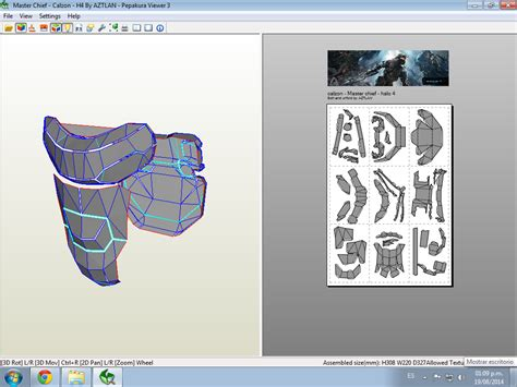 Modelando Ideas Master Chief Halo 4 Pepakura