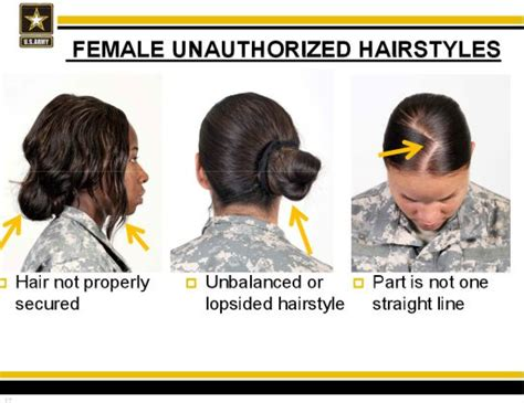 female unauthorized hairstyles    army sexual