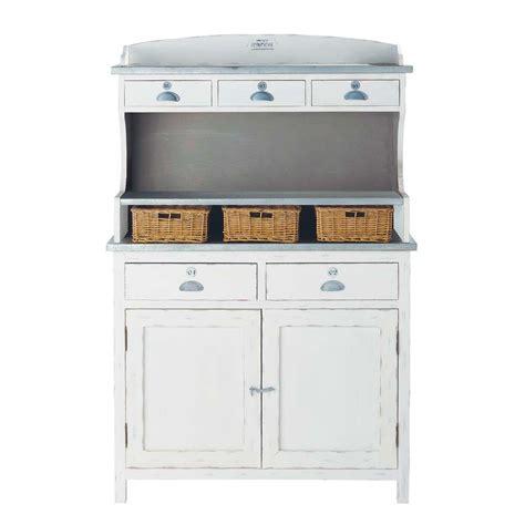 vaisselier en bois de paulownia blanc l 105 cm sorgues maisons du monde