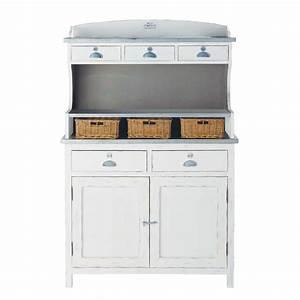 Maison Du Monde Vaisselier : vaisselier en bois de paulownia blanc l 105 cm sorgues maisons du monde ~ Preciouscoupons.com Idées de Décoration