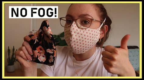 cotton face mask tutorial  glasses fogging