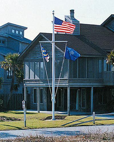 Ft Nautical Aluminum Flagpole Liberty Flagpoles