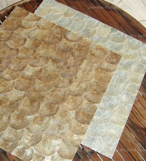 Philippine Shell Tile by Shell Tiles Capiz Walling Panels Seashell Wallpapers