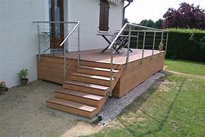 terrasse surelevee terrasse sur pilotis bourgogne With terrasse en bois surelevee