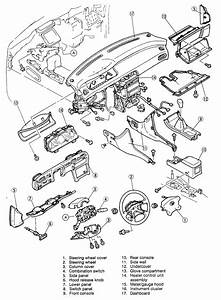 Service Manual  1993 Mazda 323 Dash Removal Diagram